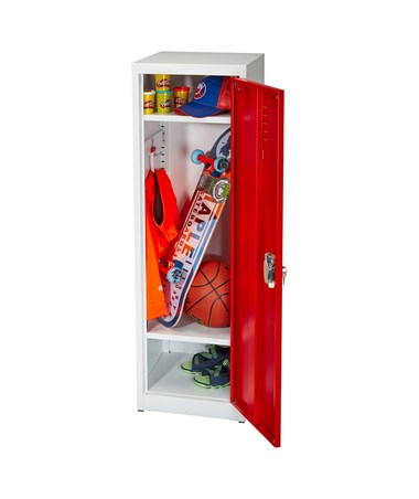 "AdirOffice 48"" Locker for Kids Red 629-01-RED"