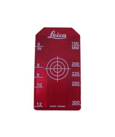 "6""-12"" Small Red Target Insert Leica Piper 100 and Piper 200 Pipe Lasers 756088"