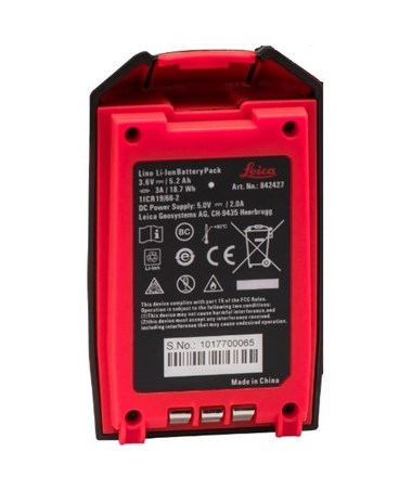 Li-ion battery for Leica Lino Lasers LEI842427
