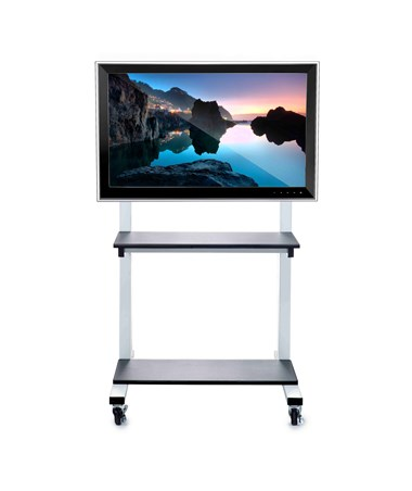 Luxor Crank Adjustable Flat Panel TV Cart CLCD
