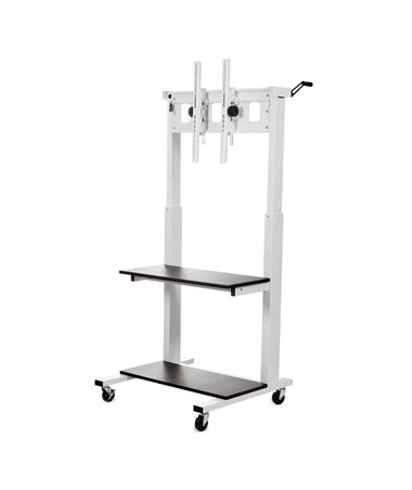 Luxor Crank Adjustable Flat Panel TV Cart LUXCLCD