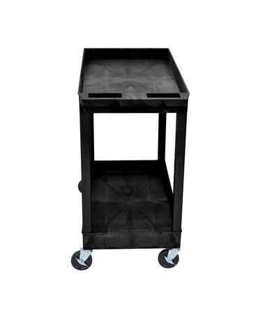 Luxor Utility Cart Two Tub Shelves EC11-B