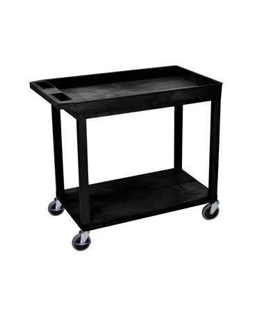 "Luxor 32"" W x 18"" D Cart with One Tub and Flat Shelf LUXEC12"