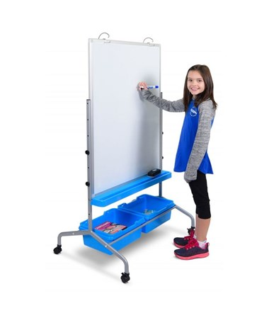 Luxor Classroom Chart Stand with Storage Bins LUXL330