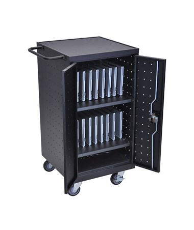 Luxor 18 Capacity Laptop Chromebook Charging Cart LLTP18-B