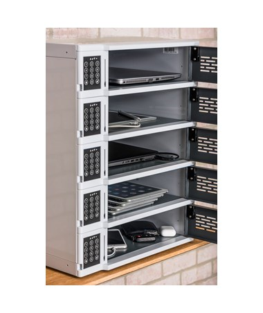 Luxor 5-Bay Charging Locker for Mobile Devices LUXLLTSW5-G