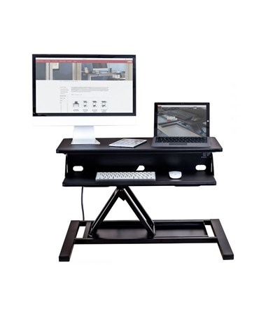"Luxor Electric Level Up Pro 32"" Standing Desk Converter LUXLVLUP-EPRO32-BK"