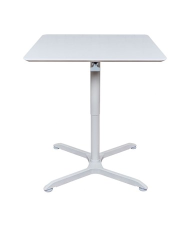 "Luxor 32"" Pneumatic Height Adjustable Square Café Table LX-PNADJ-32SQ"