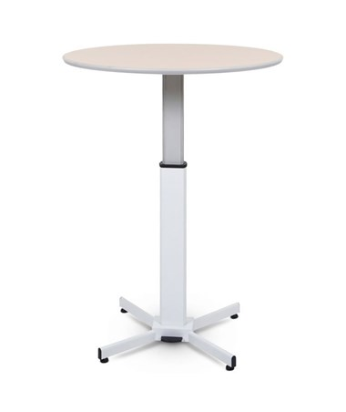 Luxor Pneumatic Height Adjustable Round Pedestal Table LUXLX-PNADJ-ROUND