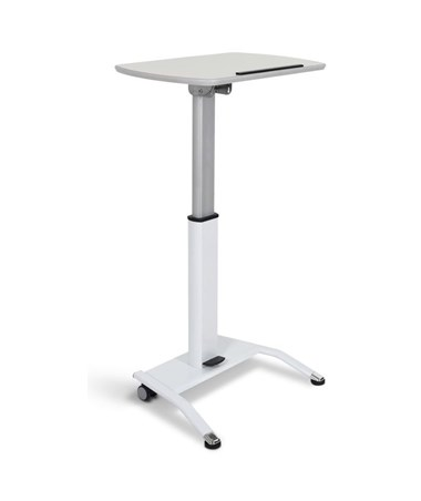 Luxor Pneumatic Height Adjustable Lectern LUXLX-PNADJ-WH