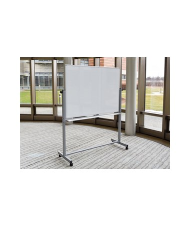 Luxor Mobile Double-Sided Magnetic Whiteboard LUXMB3040WW-
