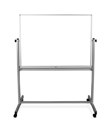 "Luxor 48""W x 36""H Mobile Double-Sided Magnetic Whiteboard MB4836WW"