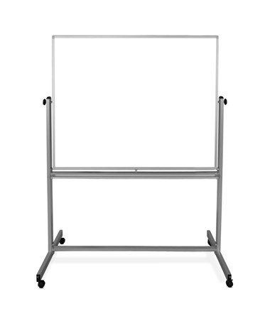 "Luxor 48""W x 48""H Mobile Double-Sided Magnetic Whiteboard MB4848WW"
