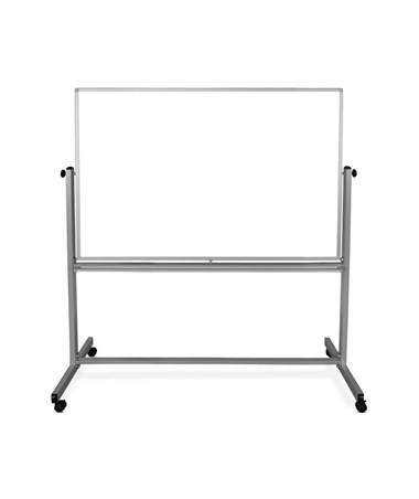 "Luxor 60""W x 40""H Mobile Double-Sided Magnetic Whiteboard MB6040WW"