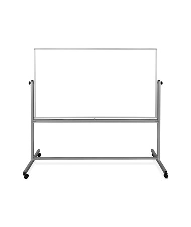 "Luxor 72""W x 40""H Mobile Double-Sided Magnetic Whiteboard MB7240WW"
