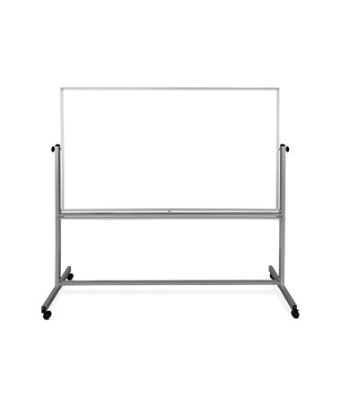 "Luxor 72""W x 48""H Mobile Double-Sided Magnetic Whiteboard MB7248WW"