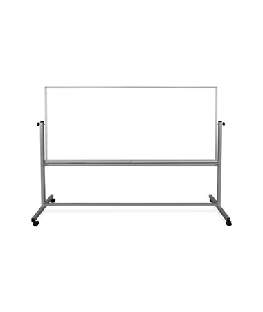 "Luxor 96""W x 40""H Mobile Double-Sided Magnetic Whiteboard MB9640WW"