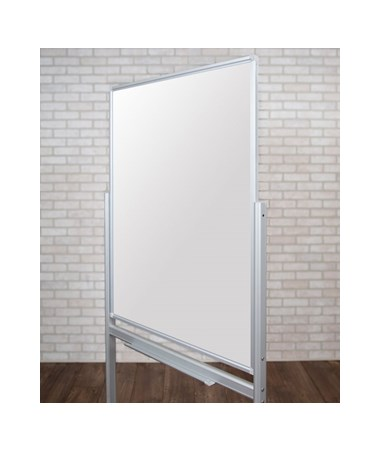 Luxor Mobile Double-Sided Magnetic Glass Board LUXMMGB3040-