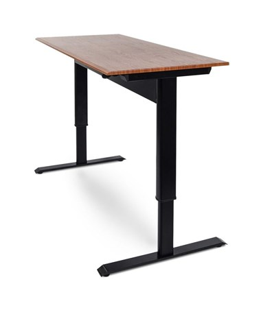 Luxor Pneumatic Height Adjustable Standing Desk LUXSPN48F-BK-TK-