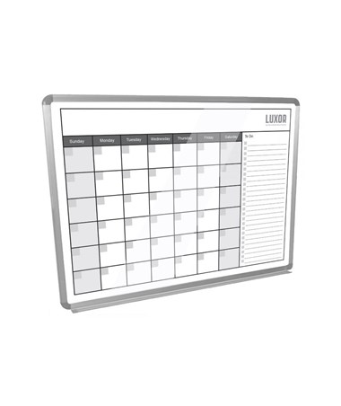 "Luxor 48""W x 36""H Magnetic Dry-Erase Monthly Calendar LUXWB4836CAL"