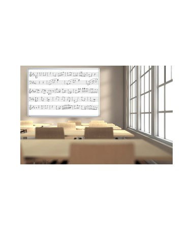 Luxor 72''W x 48''H Wall-Mounted Music Whiteboard LUXWB7248M