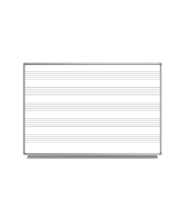 Luxor Wall-Mounted Music Whiteboard LUXWB7248M