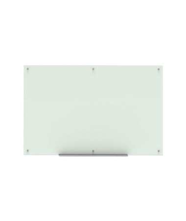 "Luxor 72""W x 48""H Wall-Mounted Magnetic Glass Board WGB7248M"