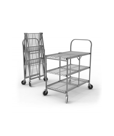 Luxor Collapsible Wire Utility Cart LUXWSCC-2-