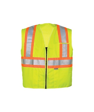 All Solid 5-Pocket ANSI Class II Safety Vests LV25