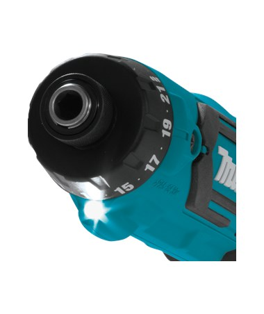 "Makita Cordless 1/4"" Hex Driver-Drill Kit with Auto-Stop Clutch MAKDF012DSE"