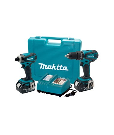 Makita LXT211A 18V LXT Lithium-Ion Cordless 2-Pc. Combo Kit with Rapid Automotive Charger MAKLXT211A