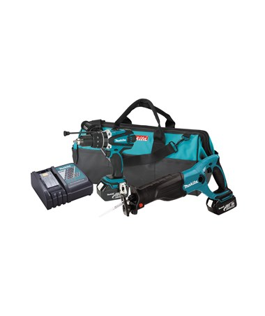Makita LXT221 18V LXT Lithium-Ion Cordless 2-Pc. Combo Kit MAKLXT221