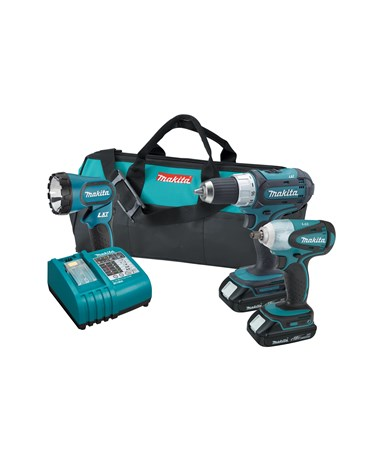Makita LXT311H 18V Compact Lithium-Ion Cordless 3-Pc. Combo Kit BTW253Z, LXFD01Z, BML185 MAKLXT311H