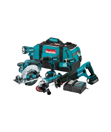 Makita LXT60118V LXT Lithium-Ion Cordless 6-Pc. Combo Kit MAKLXT601