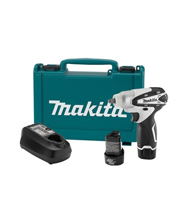 "Makita WT01W 12V Max Lithium-Ion Cordless 3/8"" Impact Wrench Kit MAKWT01W"