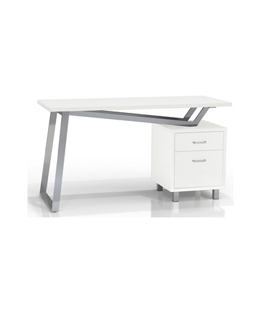 Mayline SOHO V-Desk with White Laminate Top MAY1001VL