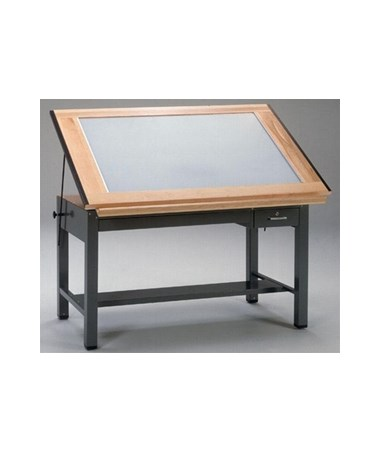 Mayline Ranger Four Post Light Table MAY7734BLT-