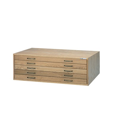Mayline 5-Drawer Wood Plan File MAY7717C-