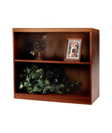 Mayline Aberdeen Series Two-Shelf 36-Inch Wide Bookcase MAYAB2S36 Cherry