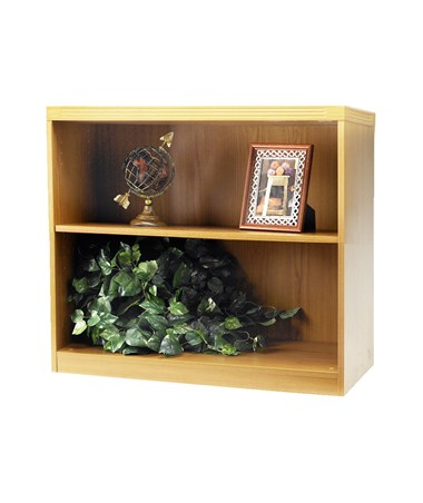 Mayline Aberdeen Series Two-Shelf 36-Inch Wide Bookcase MAYAB2S36 Maple