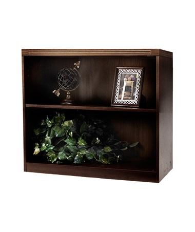 Mayline Aberdeen Series Two-Shelf 36-Inch Wide Bookcase MAYAB2S36 Mocha