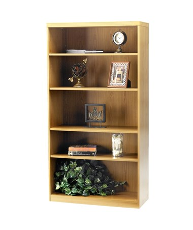Mayline Aberdeen Series Five Shelf 36-Inch Wide Bookcase MAYAB5S36 Maple