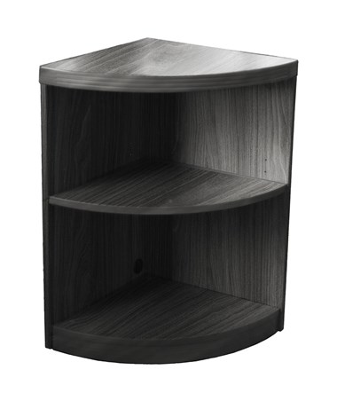 Mayline Aberdeen Series Two-Shelf Quarter Round Bookcase MAYABQ2 Gray Steel