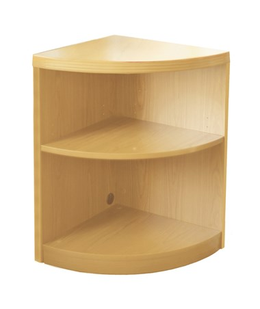 Mayline Aberdeen Series Two-Shelf Quarter Round Bookcase MAYABQ2 Maple