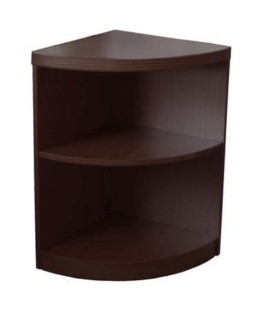 Mayline Aberdeen Series Two-Shelf Quarter Round Bookcase MAYABQ2 Mocha