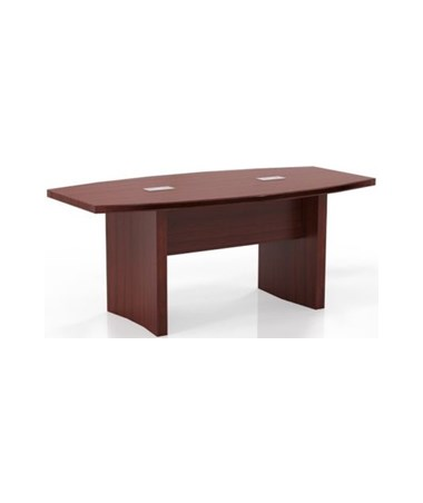 Mayline Aberdeen Series Boat-Shaped Six-Foot Conference Table Cherry MAYACTB6