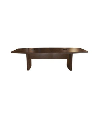 Mayline Aberdeen Series Boat-Shaped Eight-Foot Conference Table Mocha MAYACTB8