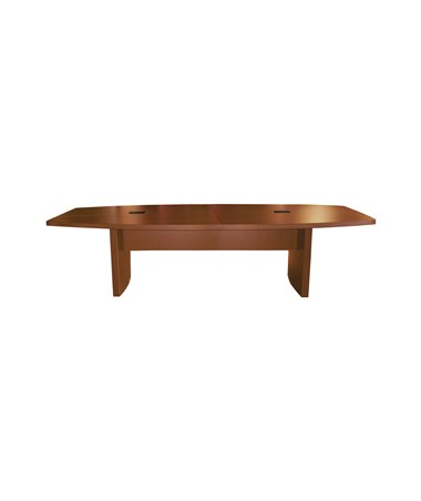 Mayline Aberdeen Series Boat-Shaped 12-Foot Conference Table Cherry MAYACTB12