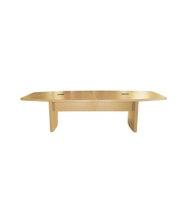 Mayline Aberdeen Series Boat-Shaped 12-Foot Conference Table Maple MAYACTB12