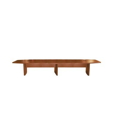 Mayline Aberdeen Series Boat-Shaped 18-Foot Conference Table Cherry MAYACTB18